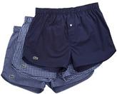 Lacoste Authentics 3-Pack Gingham Print Woven Boxers Men's Underwear