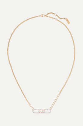 Messika Move 18-karat Rose Gold Diamond Necklace