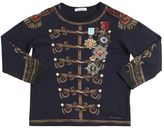 Dolce & Gabbana Military Printed Cotton Jersey T-Shirt