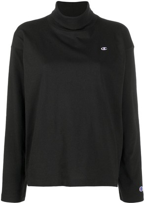Champion Logo-Embroidered Roll Neck Top