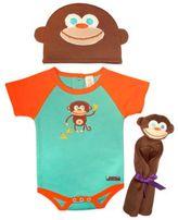 Sozo 3-Piece Monkey Welcome Home Gift Set in Blue/Orange