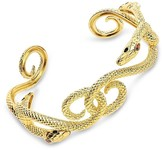 Thumbnail for your product : Sterling Forever 14K Plated Cz Interlocking Snake Cuff Bracelet