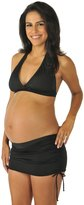 Prego Maternity Swimwear Solid Ruched Bikini Set 8141608