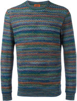 Missoni crew neck jumper - men - Cotton/Linen/Flax/Nylon/Rayon - 52