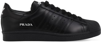 Adidas X Prada Prada Superstar Leather Sneakers