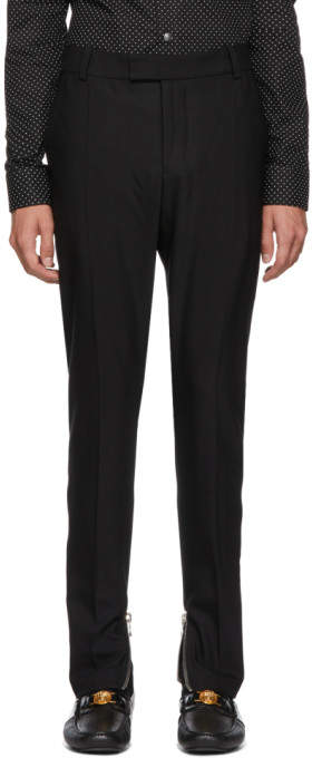 Balmain Black Wool Formal Trousers
