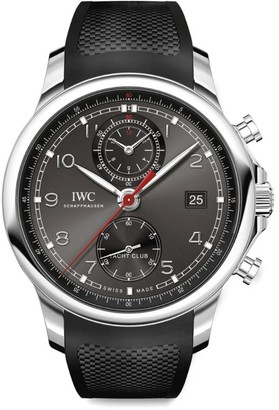 IWC SCHAFFHAUSEN Stainless Steel Portugieser Yacht Club Chronograph Watch 43.5mm