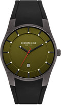 Kenneth Cole New York Men's Black Silicone Strap Watch 42x49mm 10031265