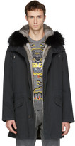 Yves Salomon Black Original Fur Parka
