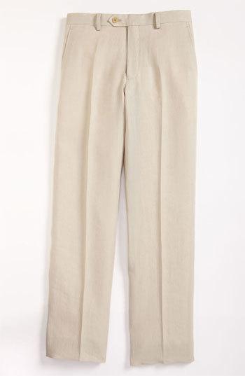 Hickey Freeman 'Bhelding' Linen Trousers (Big Boys)