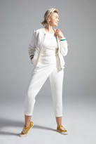 Shegul Mikaela Terry Bomber Jacket in Cream Size Large