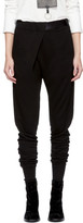 Ann Demeulemeester Black Tapered Lounge Pants