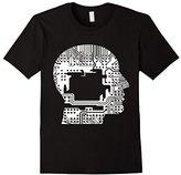 Men's Cyborg T-Shirt Robot Computer Chip Cyberpunk Transhumanism XL