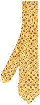 Kiton dot print tie - men - Silk/Linen/Flax - One Size