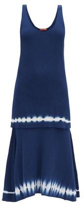 Altuzarra Shinobu Ribbed-knit Tiered Pima-cotton Midi Dress - Blue