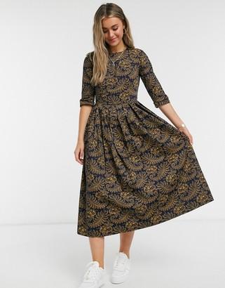 People Tree x v&a maxi dress in rosa print