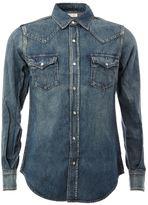 Saint Laurent western denim shirt - men - Cotton/Linen/Flax - M