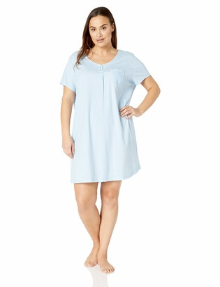 Karen Neuburger Women's Petite Short Sleeve Sleepdress Pajama PJ