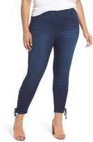 Melissa McCarthy Plus Size Women's Lace-Up Pencil Leg Jeans