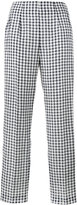 Emilia Wickstead Arabella gingham trousers - women - Silk/Cotton/Linen/Flax - 6