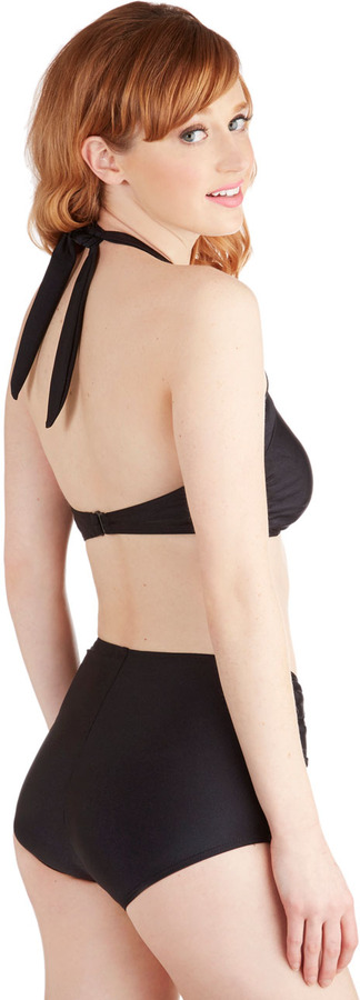 Esther Williams Bathing Beauty Two-Piece Swimsuit in Black