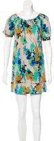 Tibi Silk Abstract Print Dress