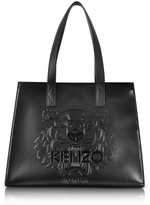 Kenzo Metallic Black Tiger Tote Bag
