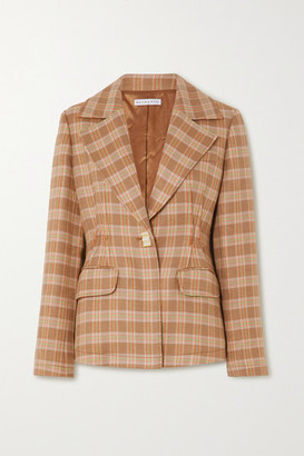 REJINA PYO Net Sustain Edith Checked Tweed Blazer - Neutral
