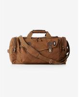Express Robert Mason Leather Canvas Weekender Bag