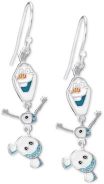 Disney Children's Frozen Olaf Drop Earrings in Sterling Silver