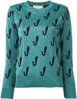 MAISON KITSUNÉ Shiny Fish jumper - women - Polyester/Viscose/Wool - XS