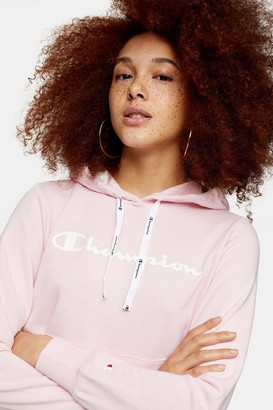Champion Womens Light Pink Terry Hoodie By Pink