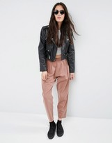 Asos Washed Casual Tapered Peg Pants