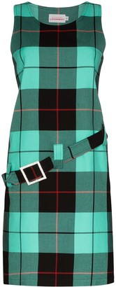 Charles Jeffrey Loverboy Gogo belted tartan dress