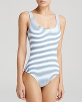 Polo Ralph Lauren Summer Stripe Lace-Up Back One Piece Swimsuit