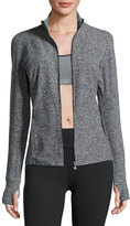 Beyond Yoga Eat Sleep & Re-Pleat Space-Dye Athletic Jacket