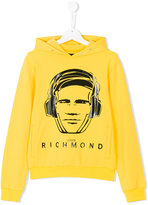 John Richmond Kids headphone print hoodie