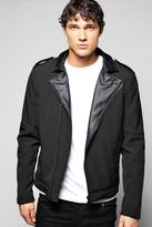 Boohoo Biker Jacket With PU Lapels