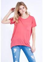 Select Fashion Fashion Basic Slub Pocket T-Shirt Tops - size 8