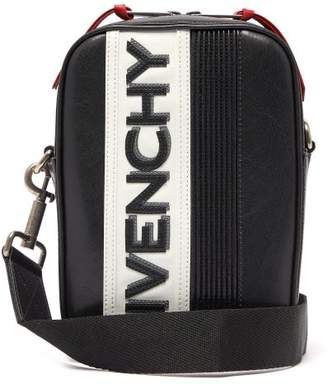 Givenchy Mc3 Logo Applique Leather Cross Body Bag - Mens - White Black