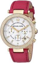 Michael Kors Women's Parker MK2297 Pink Leather Quartz Watch