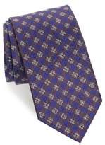 David Donahue Men's Check Silk Tie