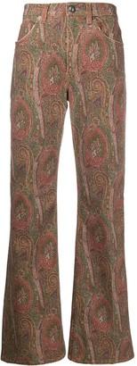 Etro Paisley-Print Straight Jeans