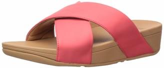 FitFlop Women's Lulu Cross Slide Leather Sandal
