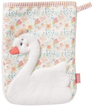 Fehn 062212 Wash Mitt Swan Face Cloth with Animal Motif for Cheerful Bath Fun for Babies and Children from 0+ Months