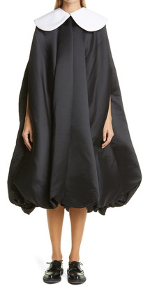 Comme des Garcons Black x White Satin Dress