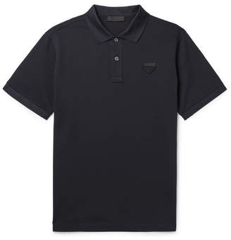 Prada Logo-Appliqued Cotton-Pique Polo Shirt
