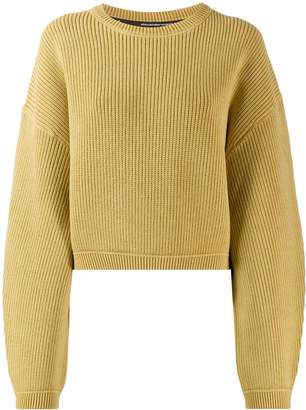 Alexander Wang ribbed cropped jumper