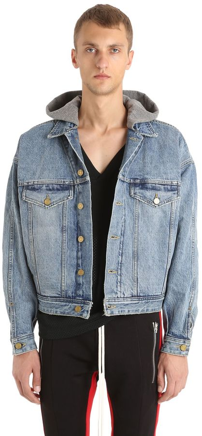 Fear Of God Hooded Selvedge Denim Trucker Jacket