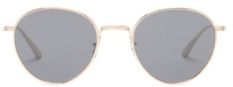 The Row X Oliver Peoples Brownstone 2 Round Sunglasses - Womens - Brown